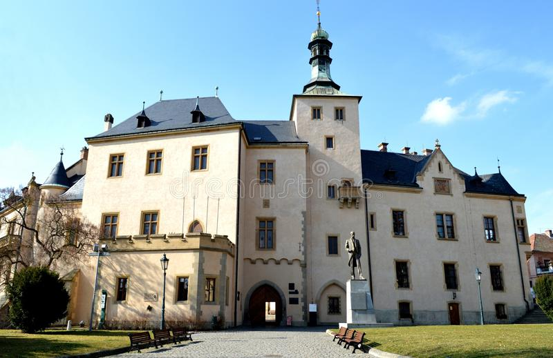 Historische bouwunesco in de Tsjechische Republiek stock foto