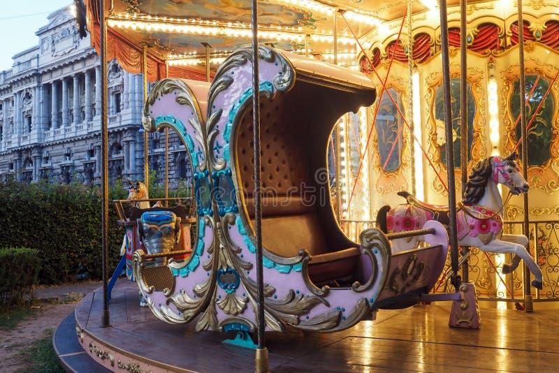Historische Carrousel in Adriano Parc in Rome royalty-vrije stock afbeeldingen