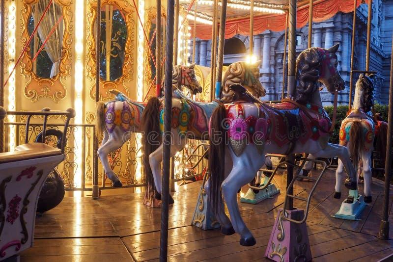 Historische Carrousel in Adriano Parc in Rome royalty-vrije stock foto