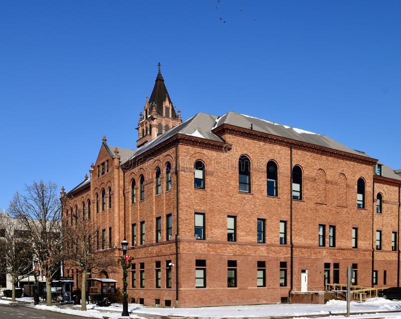 Historische Courthouse van Champaign County View #1 royalty-vrije stock foto's