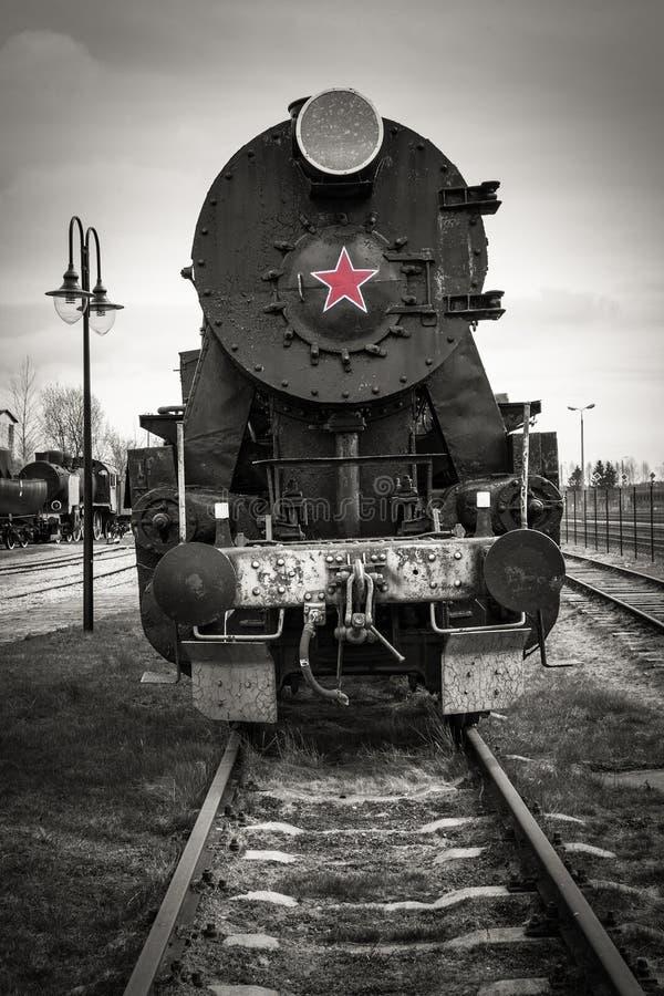Historische Dampf-Lokomotive lizenzfreie stockbilder