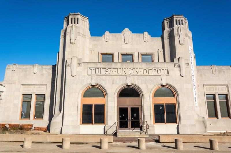 Historische de bouwhuisvesting Oklahoma Jazz Hall van Bekendheid in Tulsa, O royalty-vrije stock afbeelding