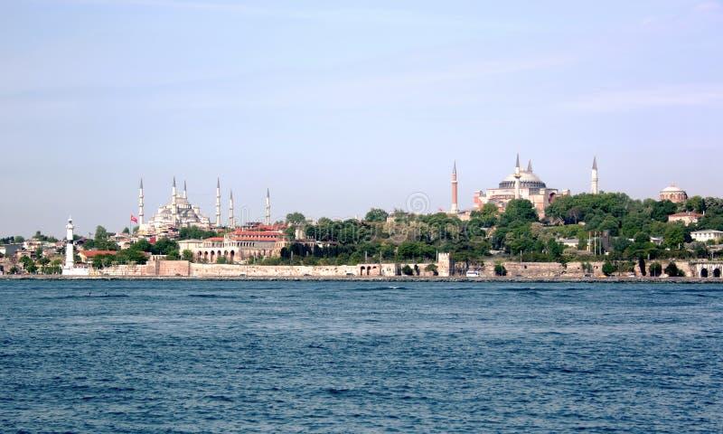 Historische Denkmäler von Istanbul stockbild