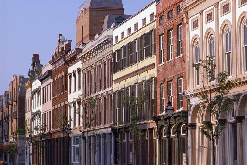 Historische districtsgebouwen royalty-vrije stock afbeeldingen