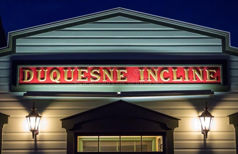 Historische Duquesne-Neigung stockbild