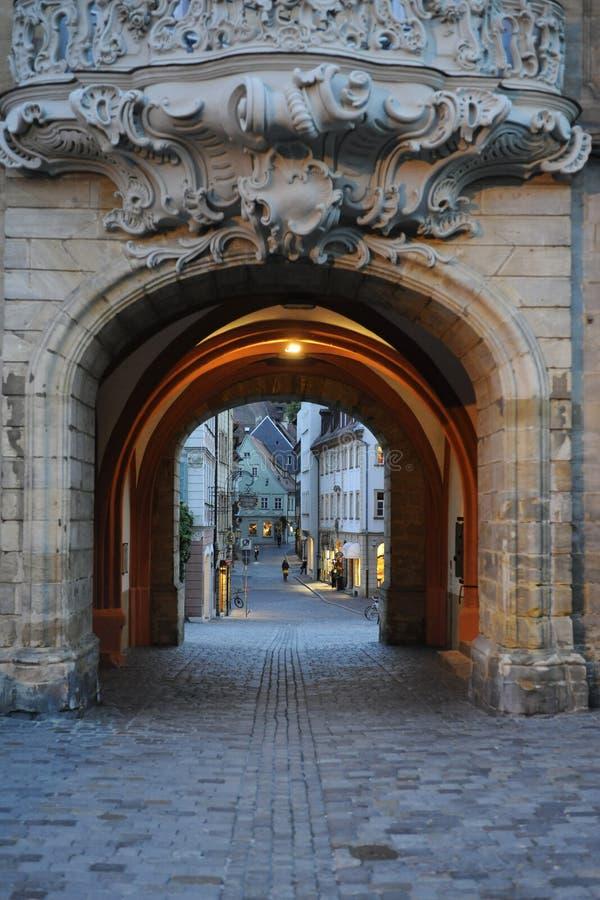 Historische Durchführung in Bamberg Deutschland stockfoto
