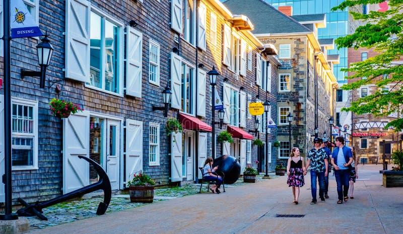 Historische Eigenschaften, Halifax Nova Scotia, Kanada lizenzfreie stockbilder