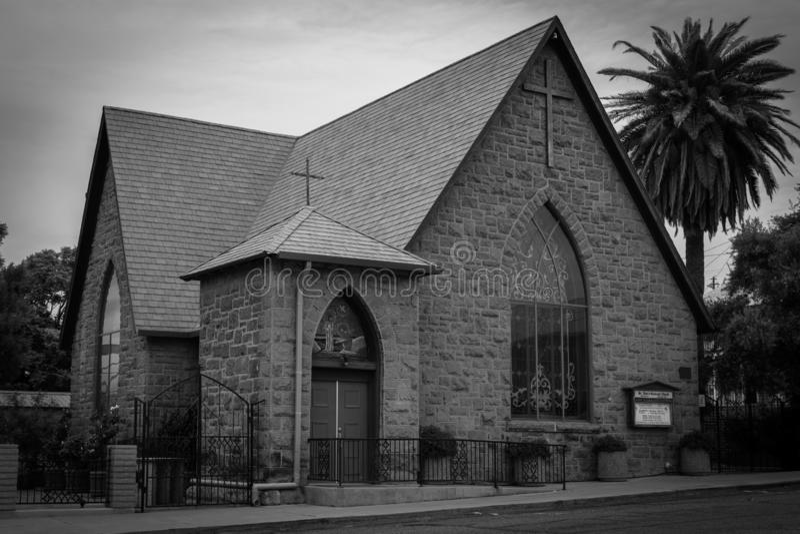 Historische episcopale kerk in Globe Arizona royalty-vrije stock foto