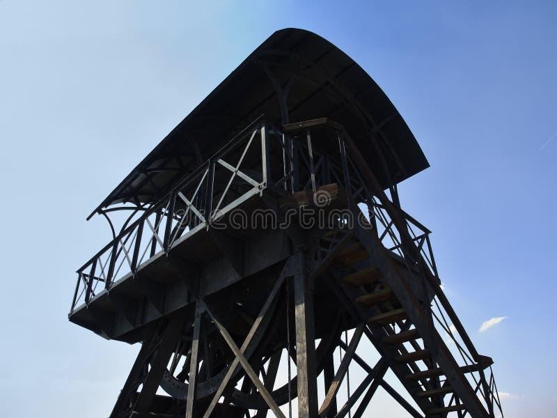 Historische Erzbergwerkkopfbedeckung lizenzfreies stockfoto