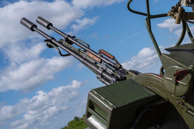 Historische Fliegerabwehrkanonen von UDSSR lizenzfreie stockbilder