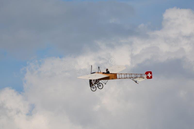 Historische Flugzeuge/Mikael Carlson Bleriot XI stockbild