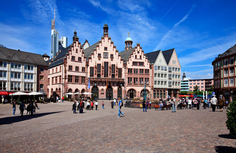 Historische Frankfurt-Hauptleitung, Deutschland stockfotos