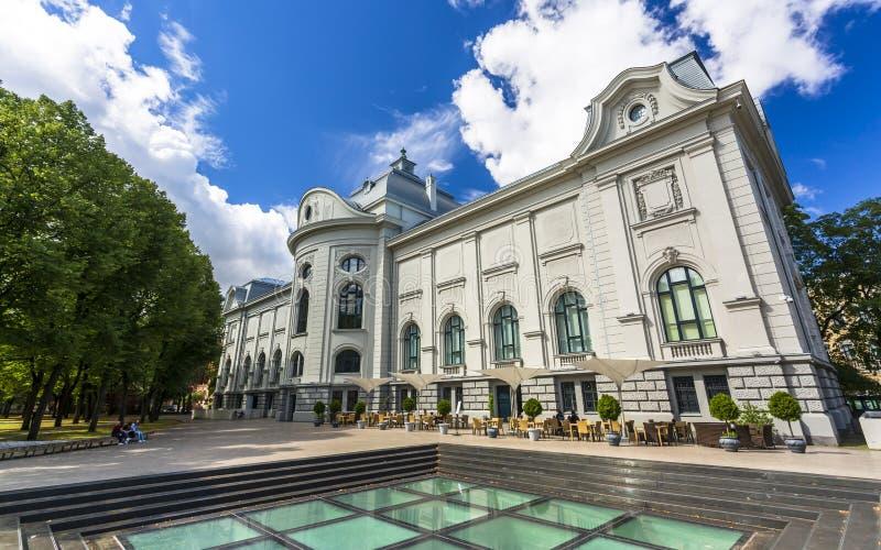 Historische Gebäude in altem Riga lizenzfreies stockbild
