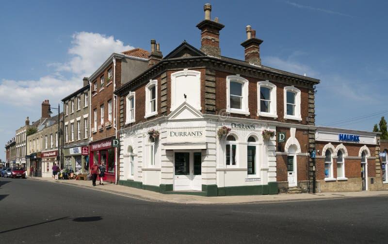 Historische Gebäude in Beccles, Suffolk Großbritannien stockfotos