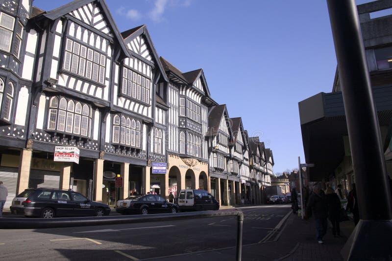 Historische Gebäude, Chesterfield, Derbyshire stockfoto