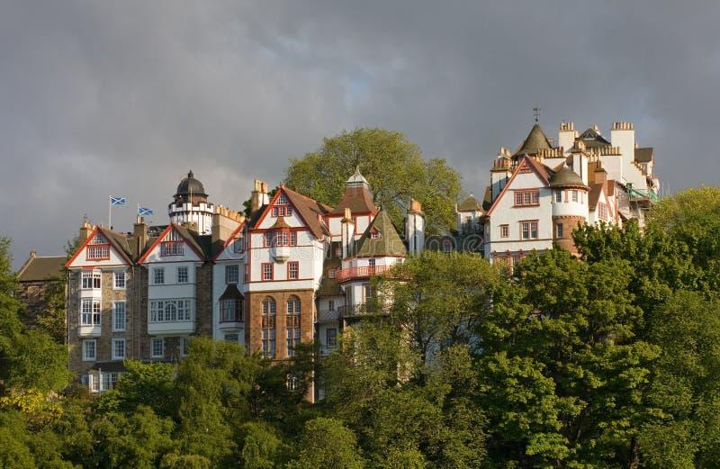Historische Gebäude der königlichen Meile in Edinburgh stockbilder