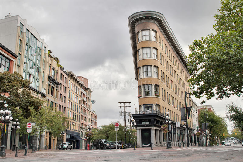 Historische Gebäude in Gastown Vancouver BC lizenzfreies stockbild