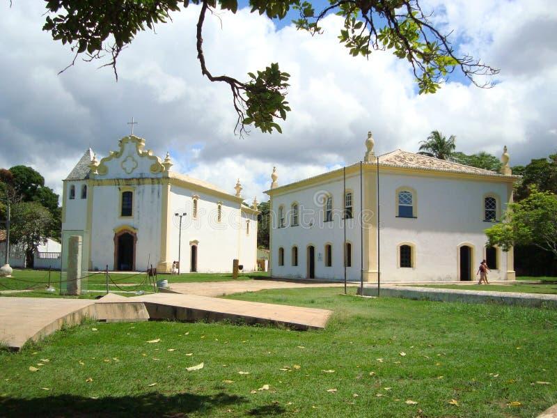 Historische Gebäude in Porto Seguro lizenzfreies stockfoto