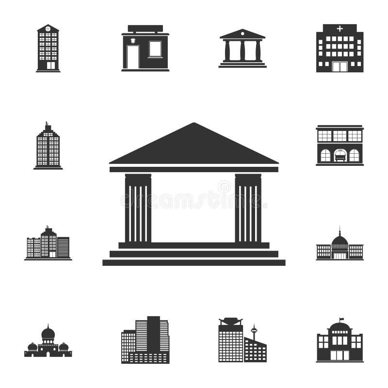 Historische Gebäudeikone Einfache Elementillustration Historisches Gebäudesymboldesign vom Gebäudesammlungssatz Sein können wir stock abbildung