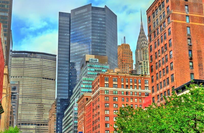 Historische gebouwen de Stad in van Manhattan, New York royalty-vrije stock afbeelding