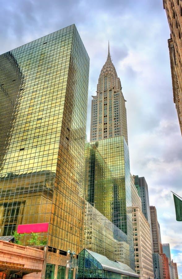 Historische gebouwen de Stad in van Manhattan, New York royalty-vrije stock foto's
