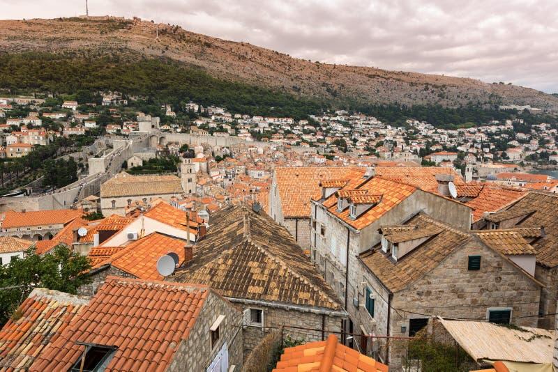 Historische gebouwen in Dubrovnik, Kroatië royalty-vrije stock foto's