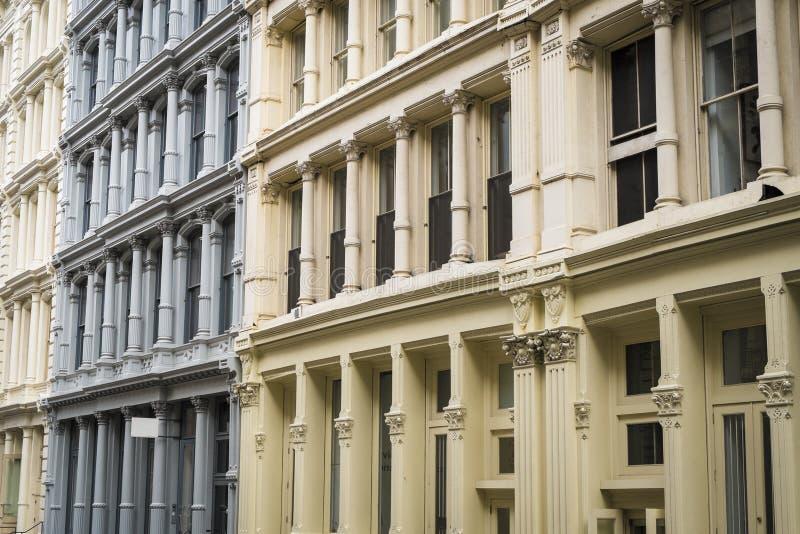 Historische gebouwen in het District van Soho van de Stad van New York royalty-vrije stock afbeelding