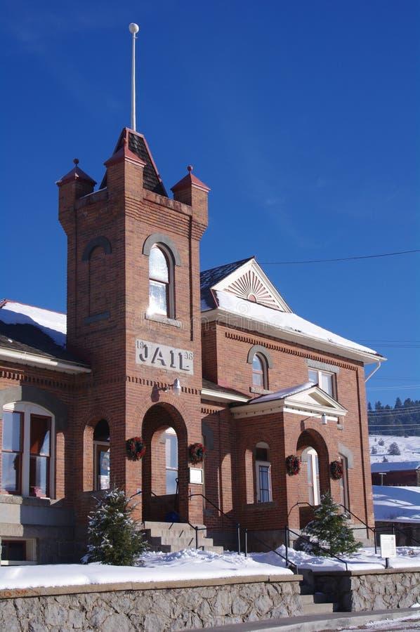 Historische Gebouwen Philipsburg Montana stock afbeeldingen