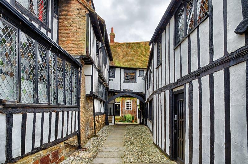 Historische gebouwen in Rogge, Oost-Sussex, Engeland royalty-vrije stock afbeeldingen