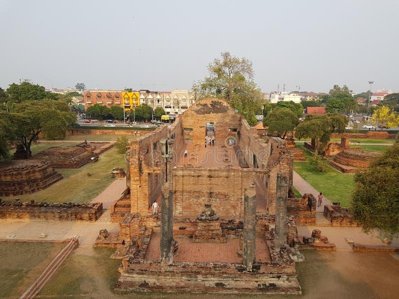 Historische gebouwen Thaise tempel royalty-vrije stock afbeeldingen