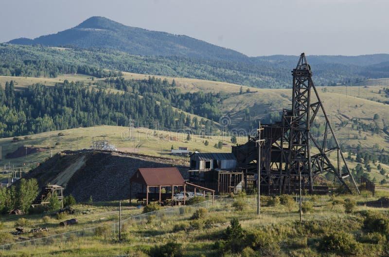 Historische Goldmine im Sieger Colorado lizenzfreie stockfotos