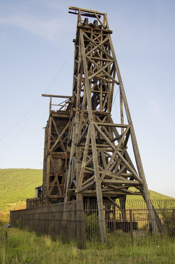 Historische Goldmine im Sieger Colorado stockbild