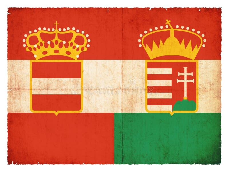 Historische grungevlag van de Austro-Hungarian Monarchie stock foto's