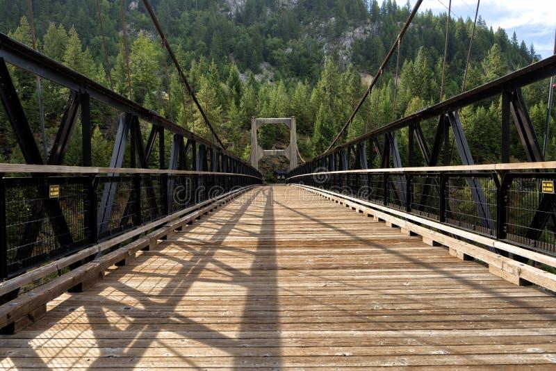 Historische Hängebrücke stockbild