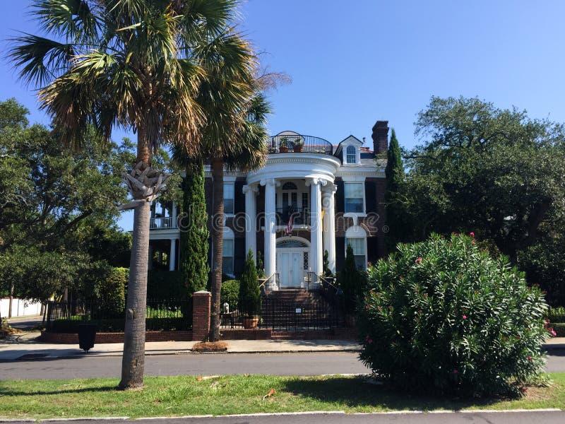 Historische Häuser auf Murray Blvd, Charleston, Sc lizenzfreies stockfoto
