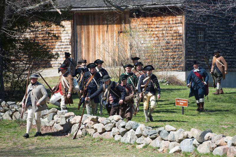 Historische het Weer invoerengebeurtenissen in Lexington, doctorandus in de letteren, de V.S. royalty-vrije stock foto