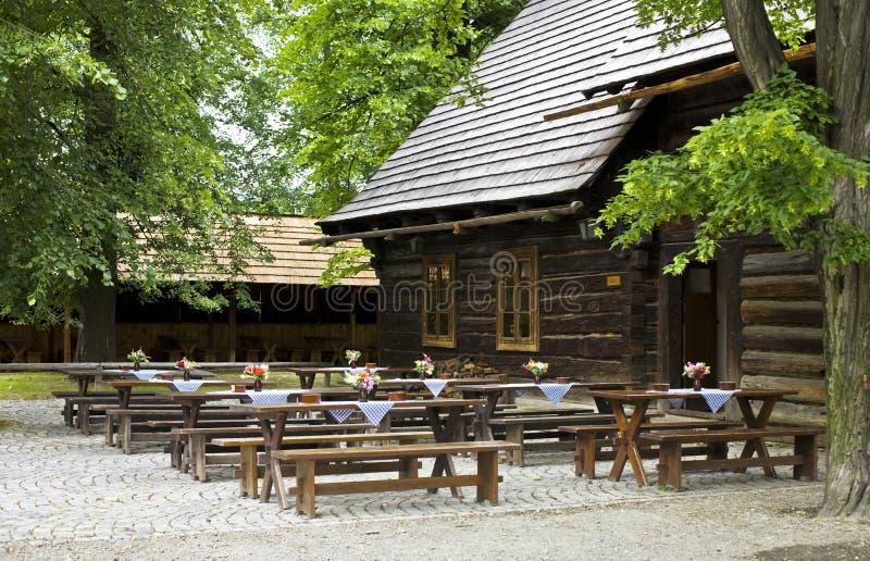 Historische houten bar royalty-vrije stock afbeelding