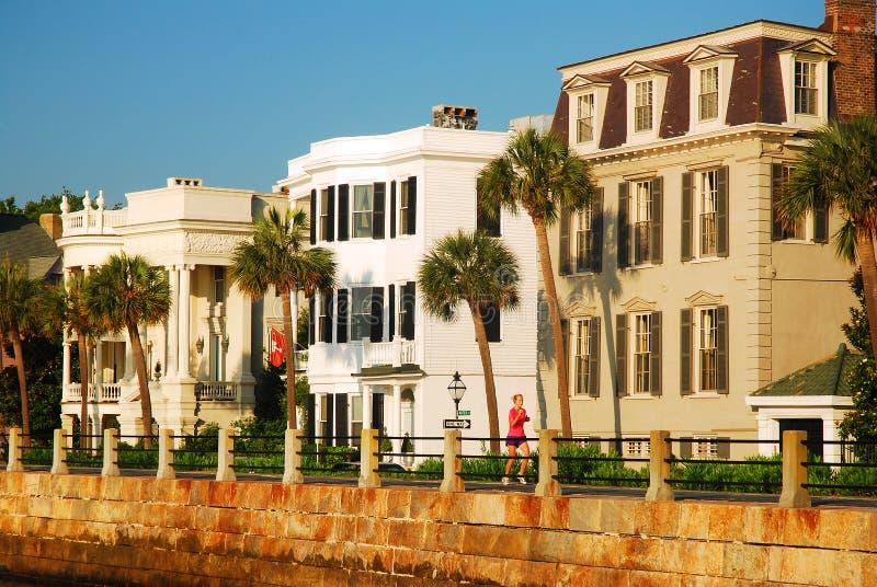 Historische huizen van Charleston stock foto's