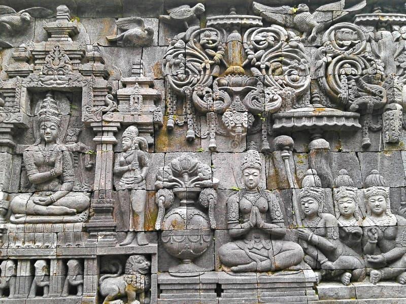 Historische Hulp in Ullen Sentalu Yogyakarta stock fotografie