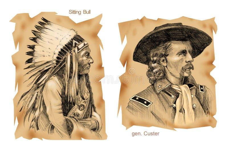 Historische Kämpfe: Wenig große Hupe stockbilder