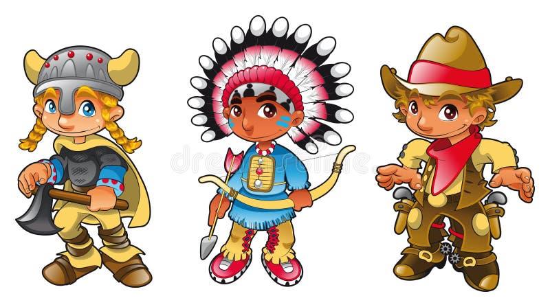 Historische karakters - 1 stock illustratie