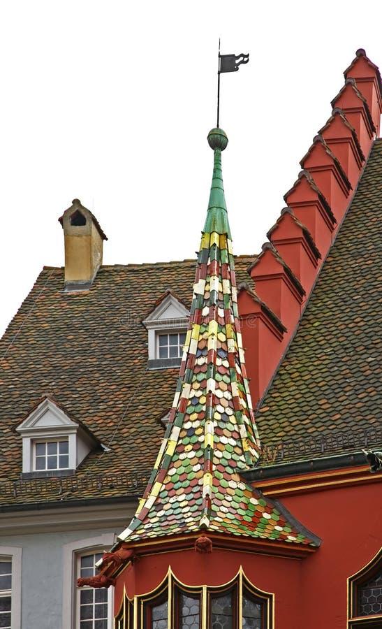Historische Kaufleute Hall in Freiburg im Breisgau deutschland lizenzfreie stockfotografie