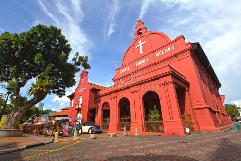 Historische kerk in Melaka royalty-vrije stock foto