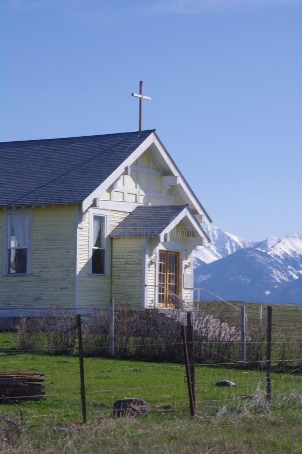 Historische Kerk, Opdrachtvallei, Montana royalty-vrije stock foto's