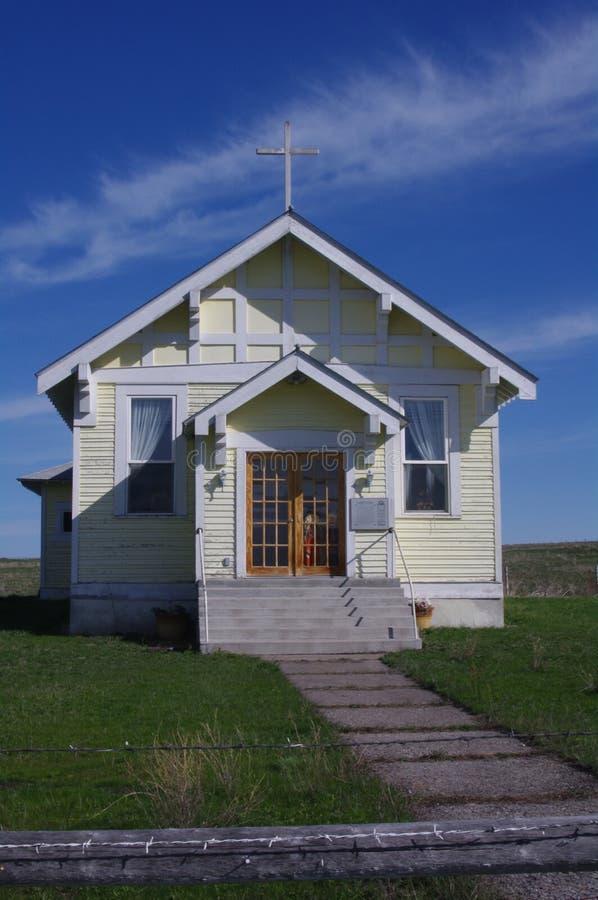 Historische Kerk, Opdrachtvallei, Montana royalty-vrije stock afbeeldingen