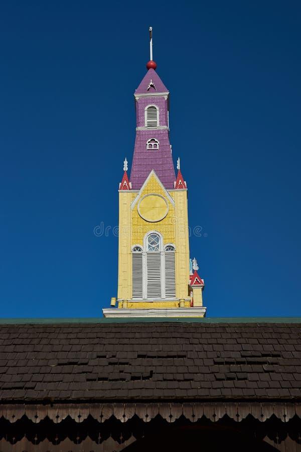 Historische Kerk van Chiloé royalty-vrije stock afbeelding