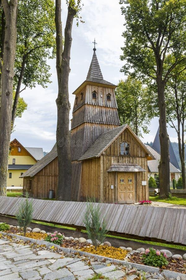 Historische kerk van Heilige Catherine in Sromowce Nizne, Polen royalty-vrije stock afbeeldingen
