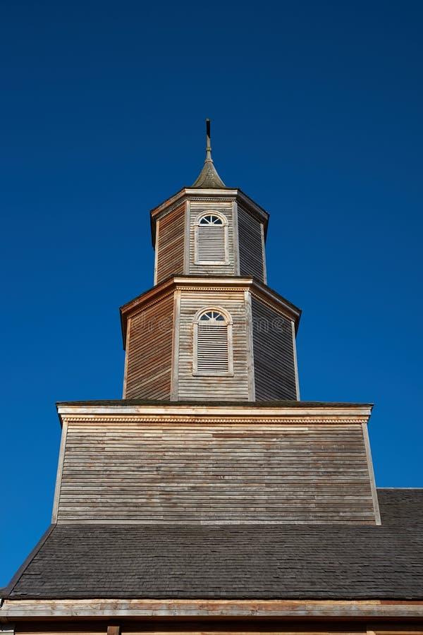 Historische Kerk van Nercon op Eiland Chiloé royalty-vrije stock afbeeldingen