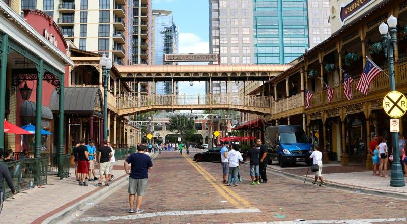 Historische Kerkstraat, Orlando Florida stock afbeeldingen