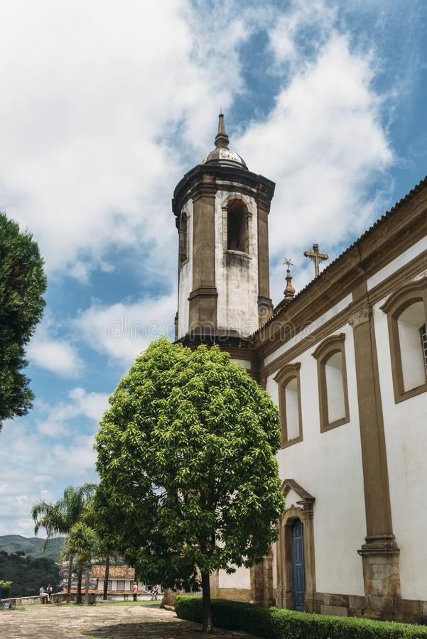 Historische Kirche in Ouro Preto, Minas Gerais, Brasilien stockfotos